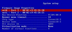 mellanox-flexboot-system-setup